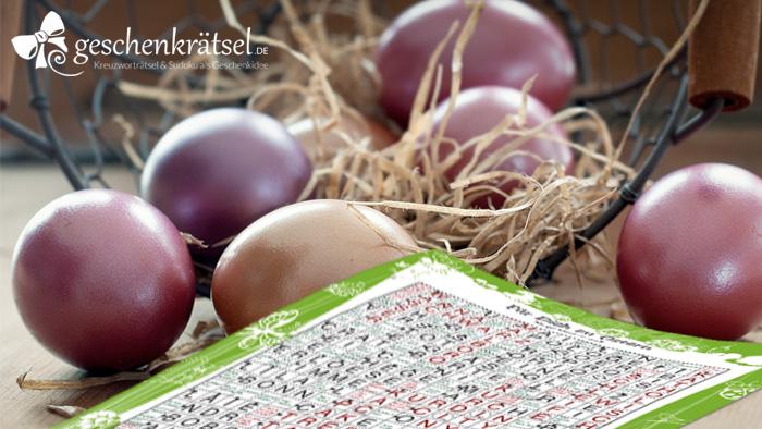 Verstecken Sie doch einmal Geschenkrätsel zu Ostern für Ihre Lieben.